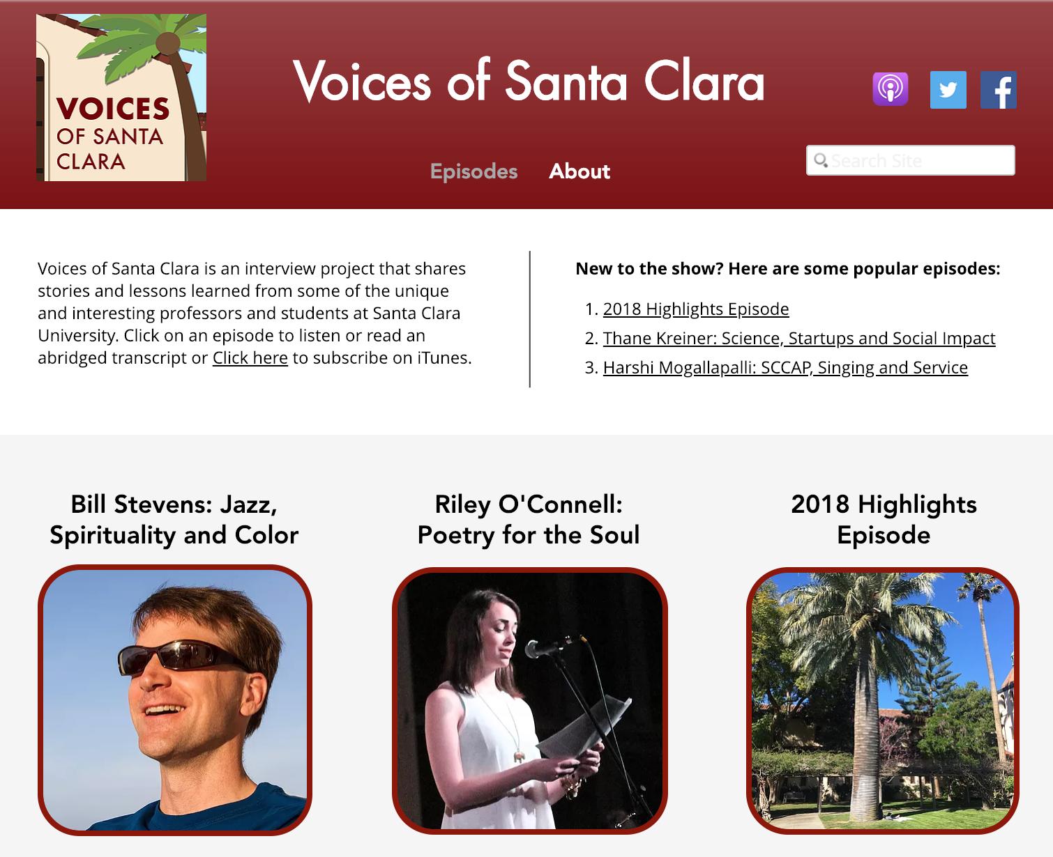 Voices of santa clara homepage